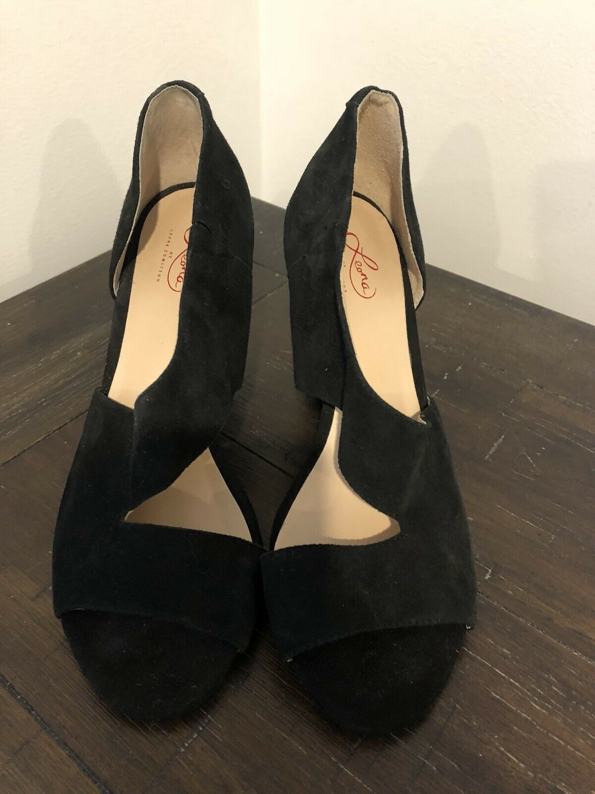 LEONA EDMISTON noir LEATHER WEDGES Taille 40 NEW WITHOUT BOX