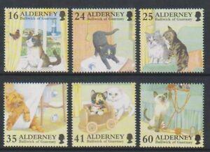Alderney-1996-Chats-Ensemble-MNH-Sg-A89-94