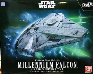BANDAI-Starwars-1-144-Millennium-Falcon-Lando-Calrissian-Version-Han-Solo-Model