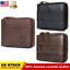 BULLCAPTAIN-Men-Genuine-Leather-Antimagnetic-Card-Slots-Coin-Wallet-Bag-US-STOCK thumbnail 1