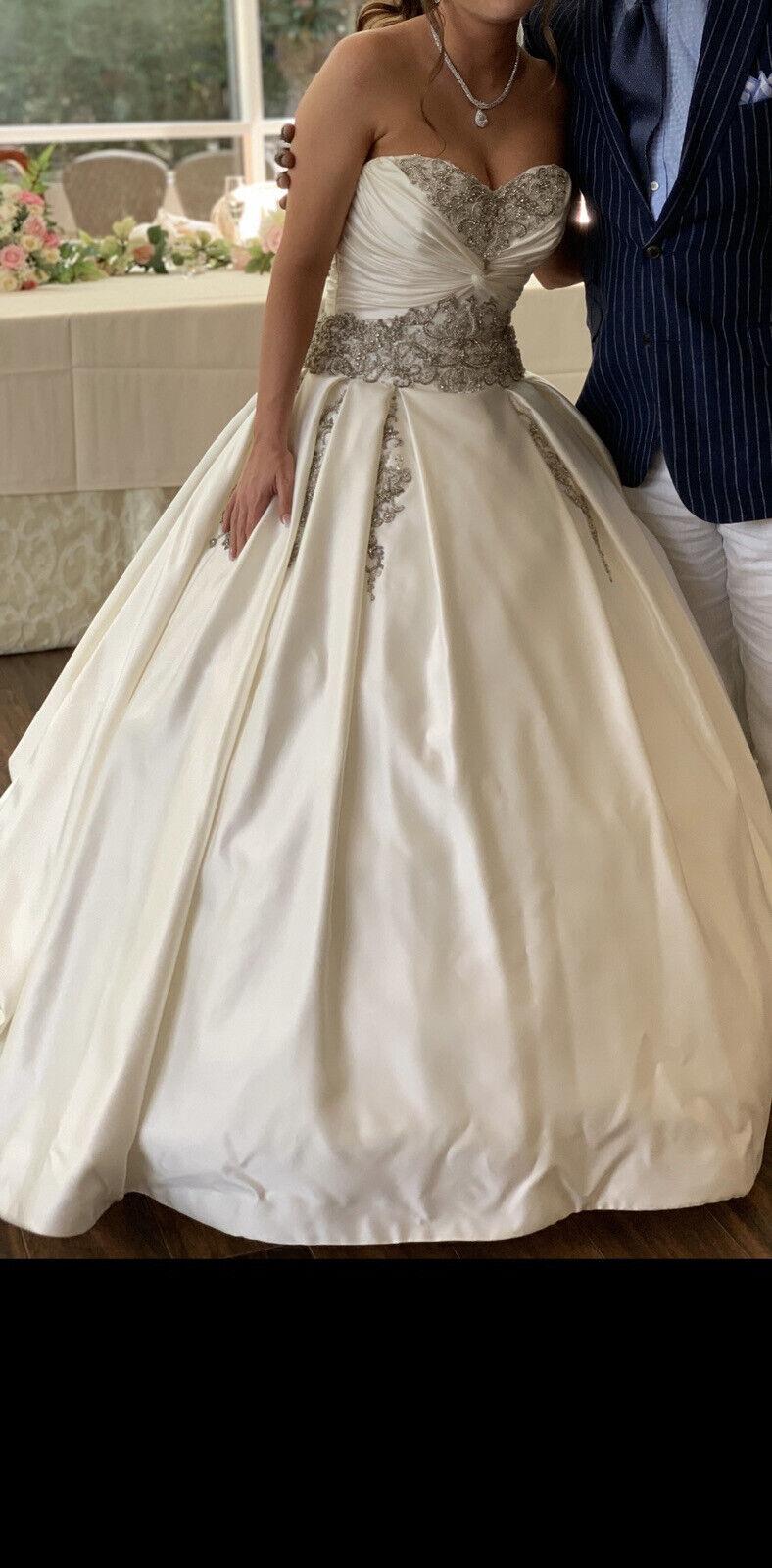 Custom Satin Ballgown Wedding Dress