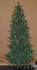 Slim Christmas Tree.Details About Finley Home 7 5 Classic Pine Clear Pre Lit Slim Christmas Tree