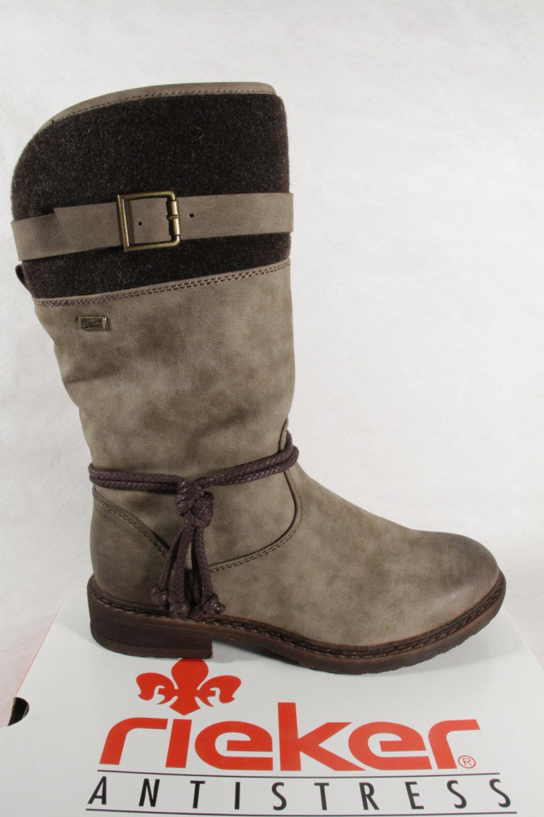 Rieker 94778 Tex Damen NEU Stiefel Stiefelette braun wasserdicht NEU Damen 742051