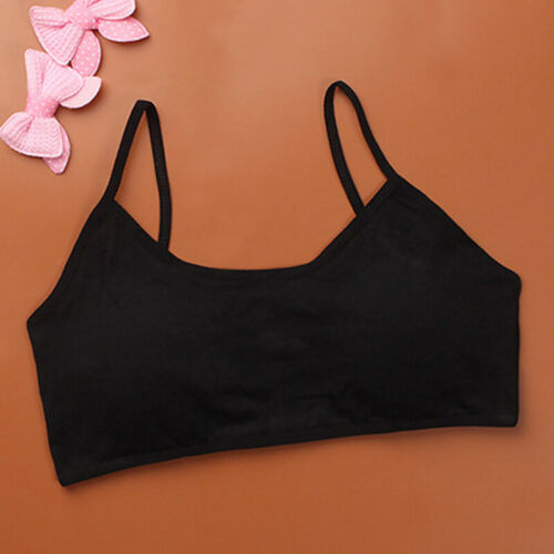 Girls Teenage Training Bra Kid Soft Breathable Cotton Underwear Tops Clothing