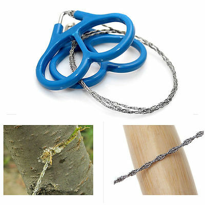 New Outdoor Steel Wire Saw Scroll Emergency Travel Camping Hiking Survival Tool