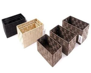 bo te de conservation panier salle bain corbeille rangement lot 3 ebay. Black Bedroom Furniture Sets. Home Design Ideas