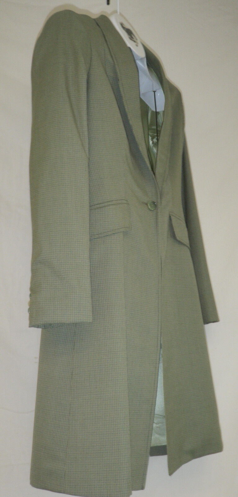 Reed Hill Saddleseat Day Coat verde Plaid Wool Blend Ladies Dimensione 14