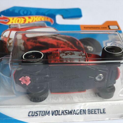Hot Wheels 2019 VW Volkswagen Escarabajo Coche Personalizado En Tarjeta Corta
