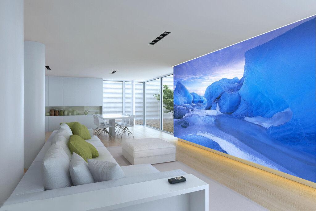 3D Art Ice Carved 8 Wall Paper Murals Wall Print Wall Wallpaper Mural AU Summer