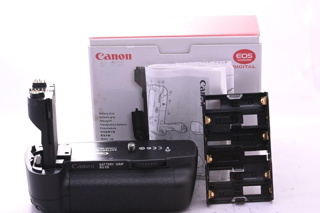 GENUINE Canon BG-E6 Grip inc BGM-E6 tray fits 5D II MK 2 GREAT CONDITION