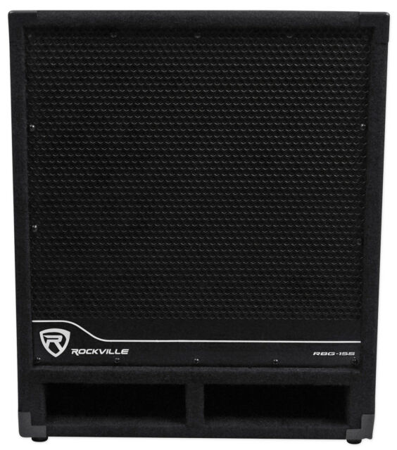 "Rockville RBG15S 15"" 1600w Active Powered PA Subwoofer w/DSP + Limiter Pro/DJ"