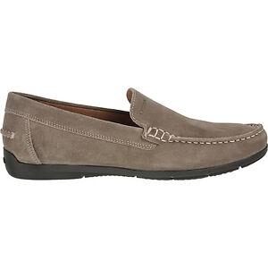 GEOX RESPIRA SIMON TAUPE scarpe uomo mocassini pelle camoscio casual shoes mens