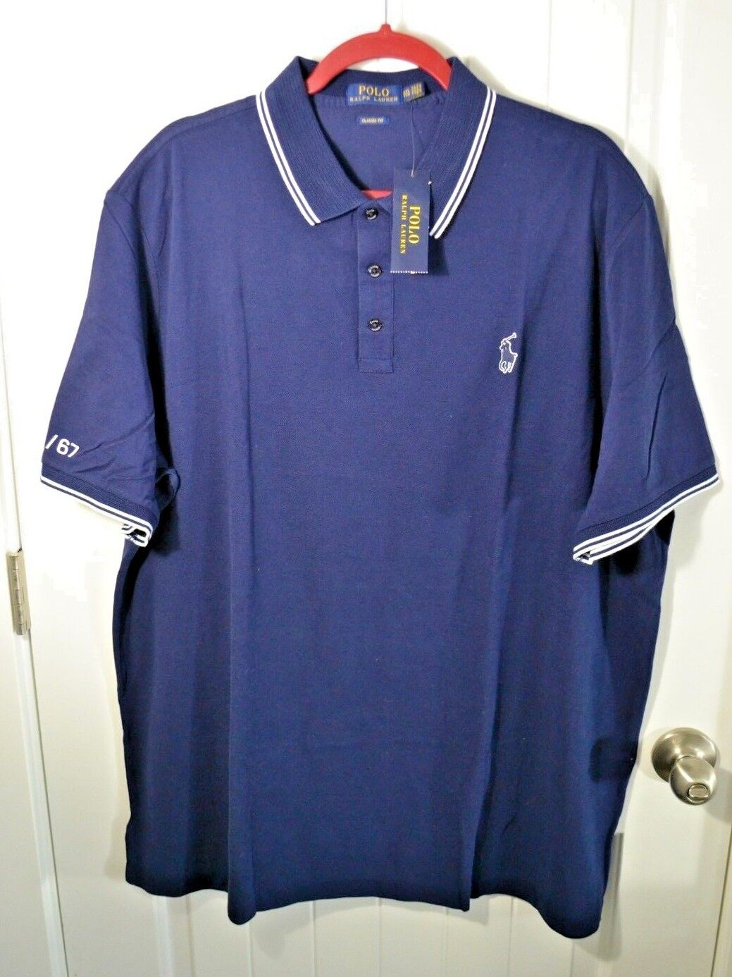 NEW Polo Ralph Lauren Uomo's Uomo's Uomo's Button Front Shirt SHORT Sleeve Oxford arancia  85 d54204