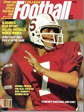 1981 Street & Smith's College Football magazine, John Elway, Stanford ~ Fair