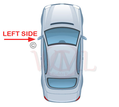 BMW 1 SERIES 04/>2009 DOOR//WING MIRROR GLASS BLUE ASPHERIC,HEATED/&BASE,LEFTSIDE