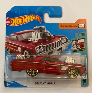 2020-Hotwheels-1964-64-Chevy-Impala-Vermelho-Perfeito-Moc