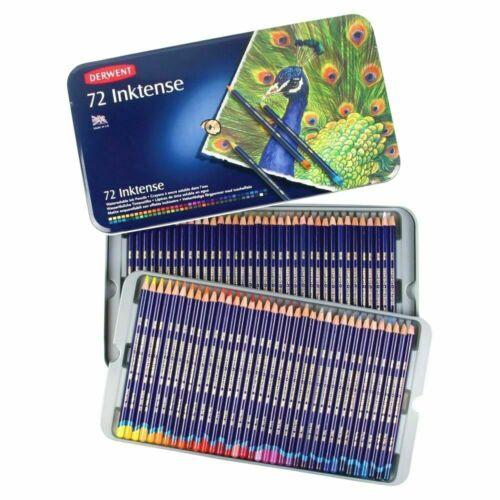 72 Colores Lápices Acuarela Derwent Inktense en adultos colorante libros de arte de estaño