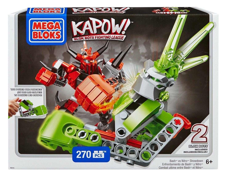 Mega Mega Mega Bloks Kapow Bash vs Nitro Showdown Fighting Robots Building Set - 270 Pc 356ad4