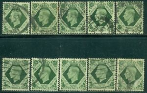 GREAT BRITAIN SG-473, SCOTT # 246, USED, 10 STAMPS, GREAT PRICE!