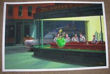 GHOSTBUSTERS movie poster print NIGHTBUSTERS Edward Hopper Casey Callendar