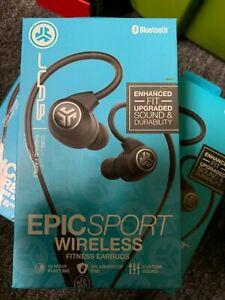 a3b0b61e37a OB JLab Audio Epic Sport Wireless Bluetooth In-Ear Headphones Black ...