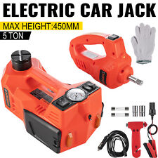 12v 5t Electric Hydraulic Floor Jack Car Jack Lift Amp Impact Wrench Tire Tool Kit