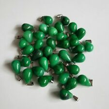 50pcs//lot Natural Gray Agate Water Drop Shape Pendant Bead16X24mm DIY Necklace