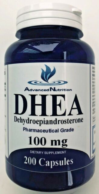 DHEA 100mg 200 Capsules Dietary Supplement Pharmaceutical Grade Gluten Free  USA