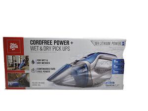 NIB-Dirt-Devil-Cordless-Wet-amp-Dry-Hand-Vacuum-QUICKFLIP-16V-Lithium-Powered