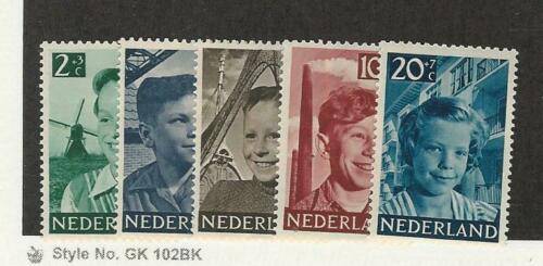 Netherlands, Postage Stamp, #B229B233 Mint Hinged, 1951, JFZ