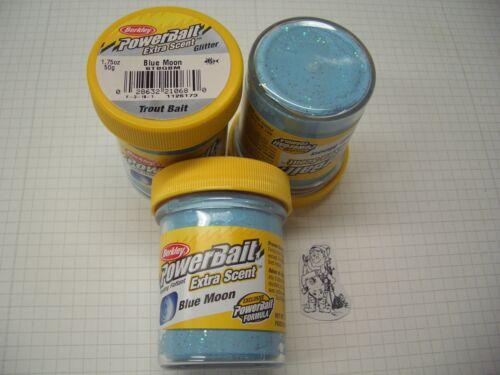 Berkley Power Bait Trout Bait Glitter Blue Moon 1x 50g-Glas 100g//6,98€