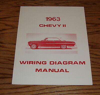 1963 Chevrolet Chevy II Nova Wiring Diagram Manual 63   eBay