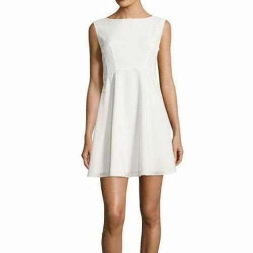 NEW French Connection Whisper Ruth Dress color- White 6