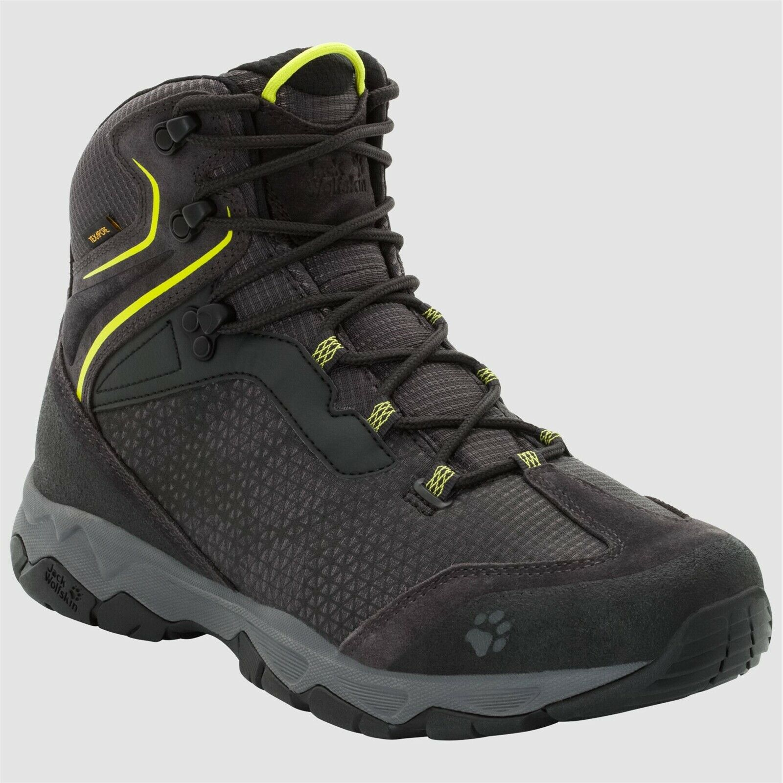 Jack Wolfskin Rock Hunter texapore Low Men = 48 zapatos caballero Lime verde