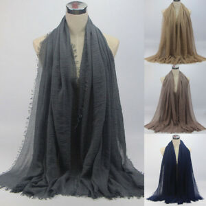 Women-Premium-Viscose-Maxi-Crinkle-Cloud-Hijab-Scarf-Shawl-Soft-Islam-Muslim