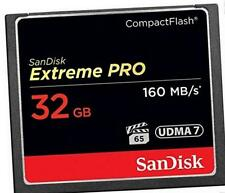 SanDisk Extreme Pro 32 GB 160 MB/s Compact Flash Memory Card - Black/Gold/Red