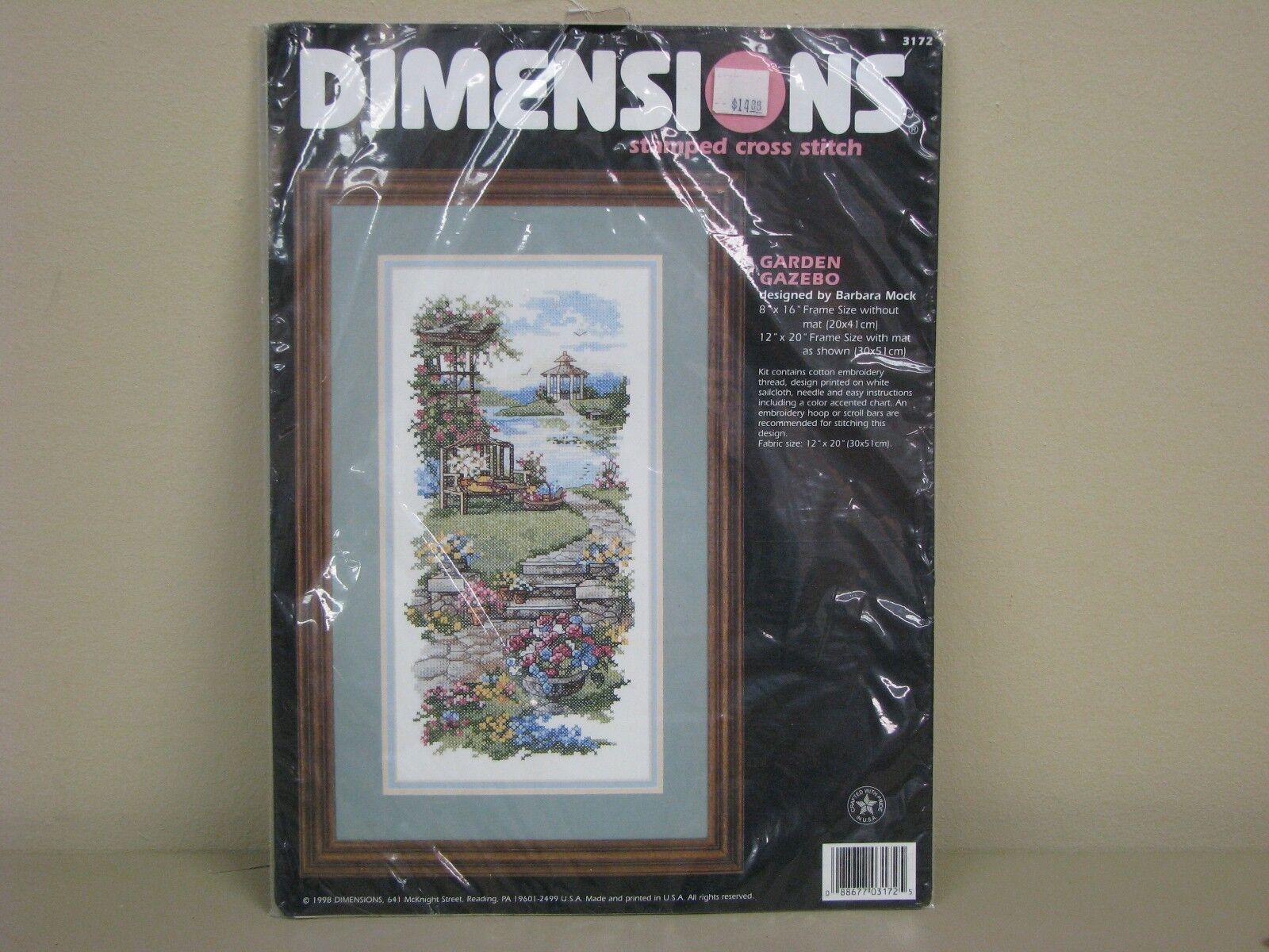 Dimensions Garden Gazebo Stamped Cross Stitch Kit 3172 | eBay