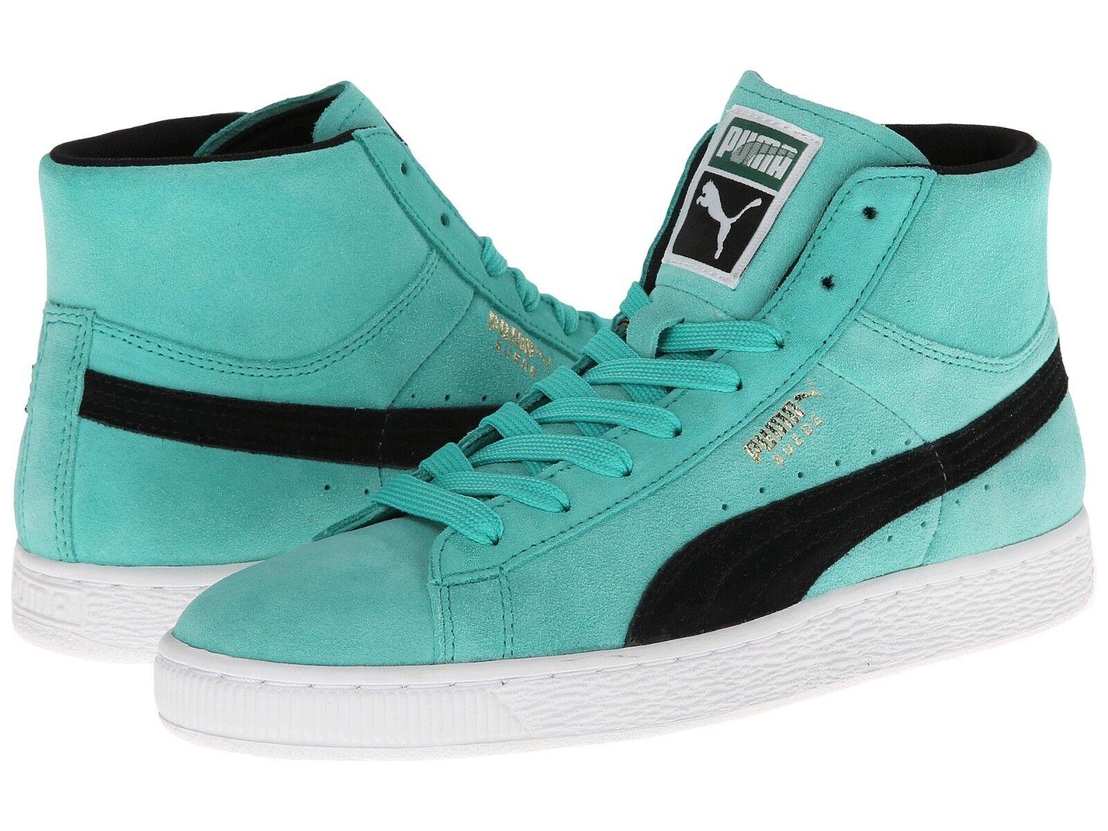 Puma negro Suede Classic Mid básico negro Puma verde azulado para mujer 3e4fdc