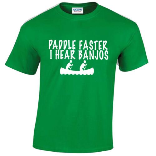 Paddle Faster Mens T Shirt CANOE Deliverance Nouveauté plouc du film New