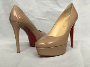 961c2aff11d1 Image is loading Christian-Louboutin-Dirditta-Patent-Platform-Pump-Heel- Shoes-