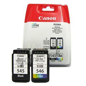 Originale OEM Canon Pixma Pg-545 Nero /& Cl-546 Tri Colore Cartuccia