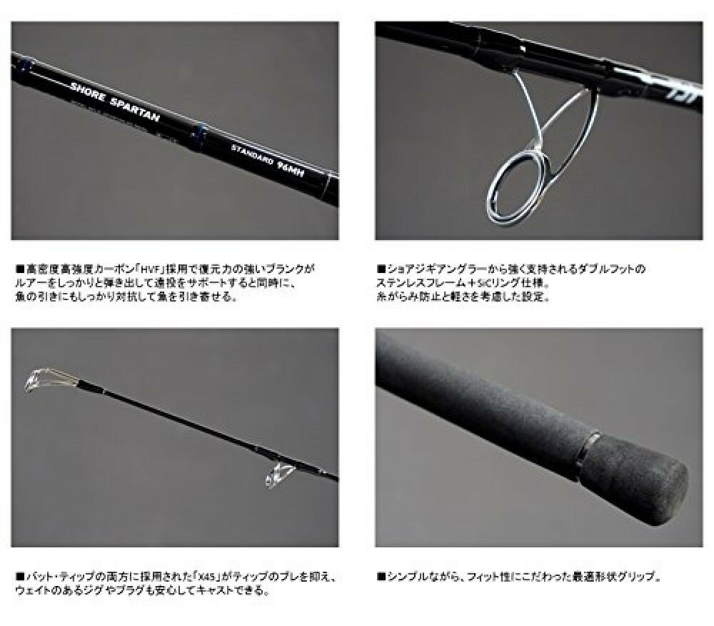 Daiwa Shore Jigging Rod Spinning Shore Spartan Standard 106MH From Japan