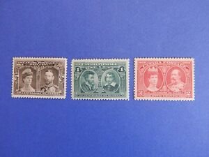 """#96-98 MH  superb, well-centred """"Quebec Tercentenary Issue"""", issued 1908  HCV"""
