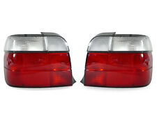 DEPO 95-99 BMW E36 318ti 3 DOOR HATCHBACK EURO RED/CLEAR TAILLIGHTS LAMPS PAIR