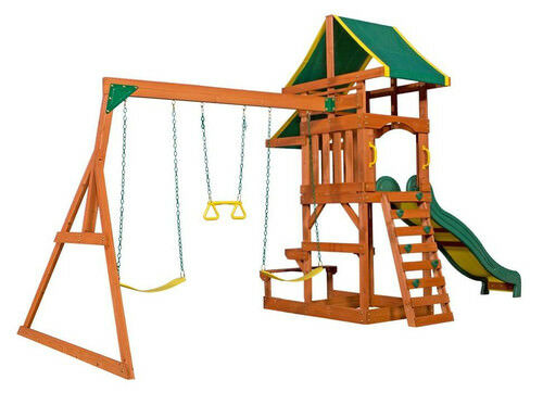 BACKYARD DISCOVERY Tucson Cedar Wooden Swing Playground Kids