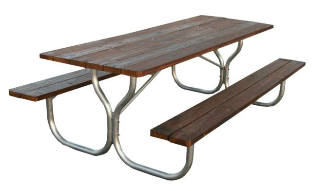 Heavy Duty Aluminum Picnic Table Frame With Stainless Steel Hardware