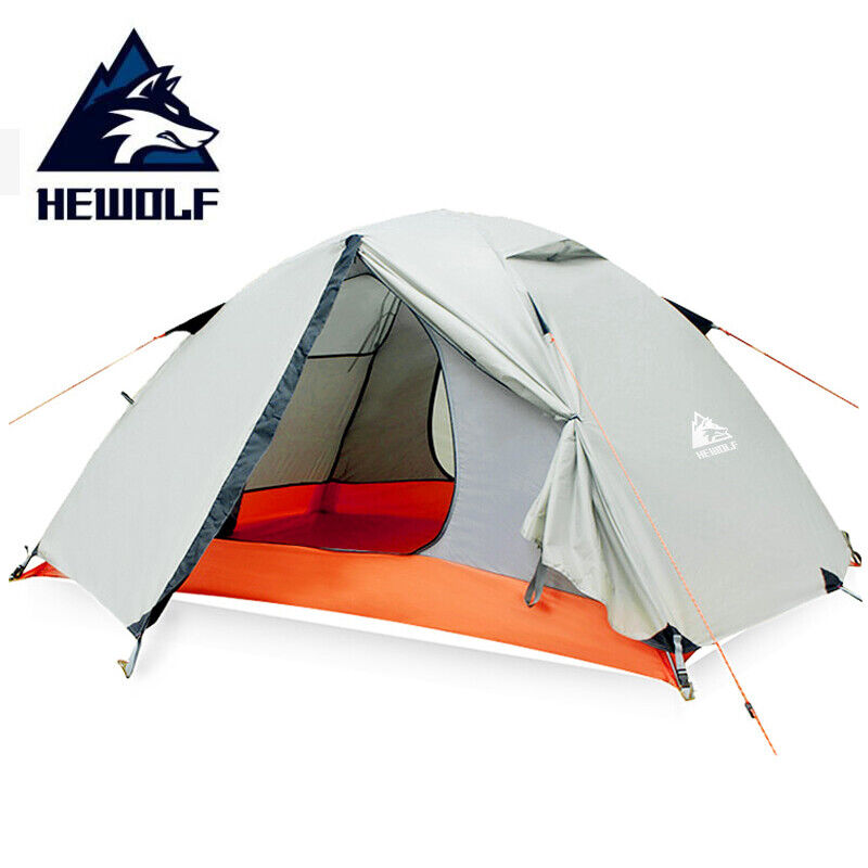 Hewolf 2 Person Waterproof Camping Tents For Outdoor Recreation  Double Layer 4