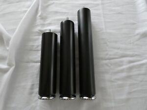 hêtre noir rond pieds meuble en bois rundfüße pieds de canapé M8 H- 21-26-31cm