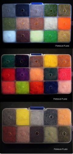 40 Different Colors of Antron Sparkle Dubbing! 3 Dubbing Dispenser Boxes