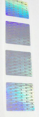 "WA75 Warranty 3//4/"" Square Product Protection Tamper Evident Hologram Labels"
